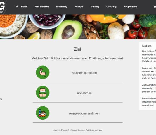 Ernährungsplan-Software