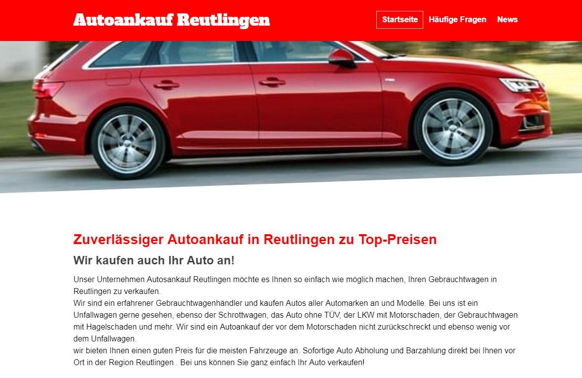 Autosankauf Reutlingen