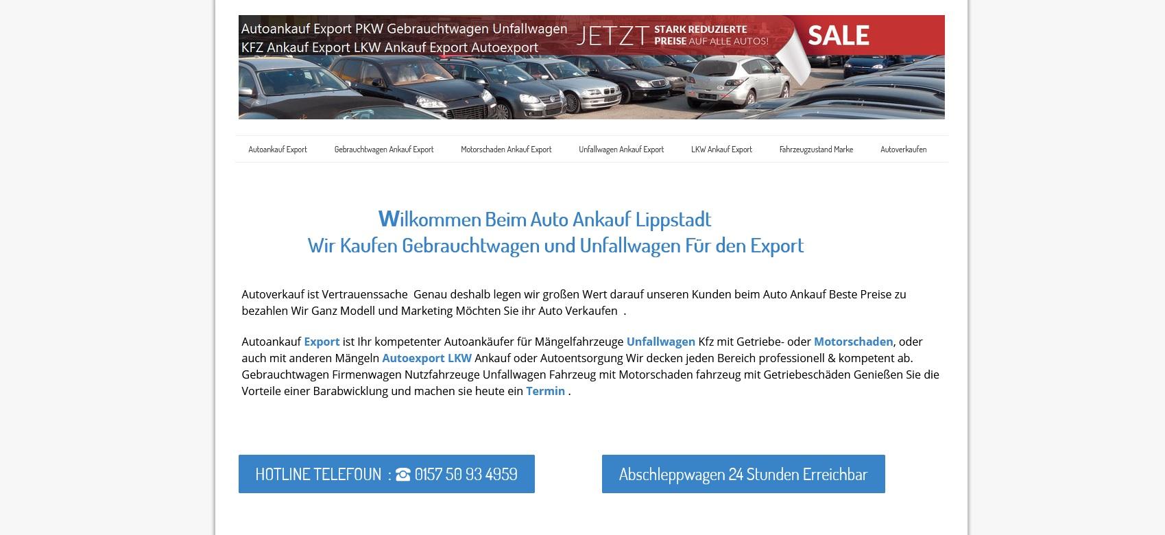 Kfz-Ankauf-Export Lippstadt