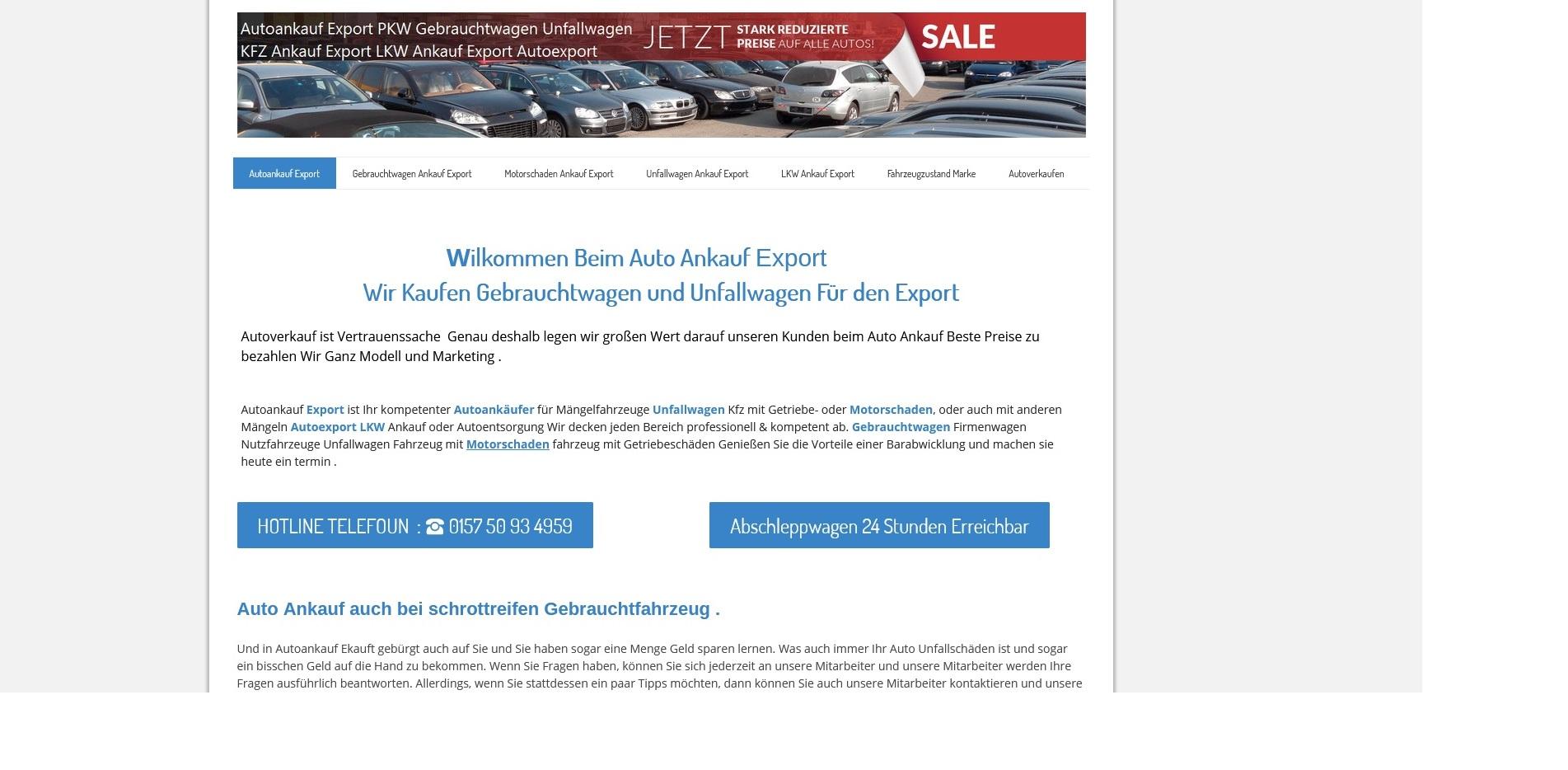 https://www.kfz-ankauf-export.de - Autoankauf Aurich