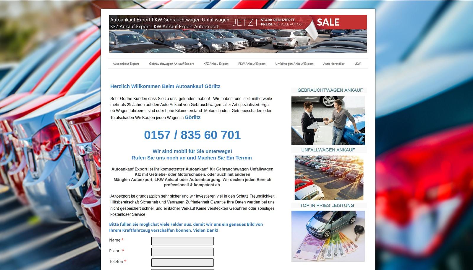 auto-ankauf-export.de - Autoankauf Goslar