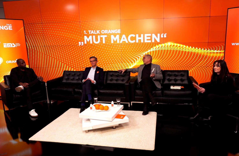 Zu den Talk Gästen am 18. Januar zählten (v.l.) Kelechi Onyele, Dr. Michael Fraas und Dr. Horst Schaffer. (Bild: smic! Events & Marketing)
