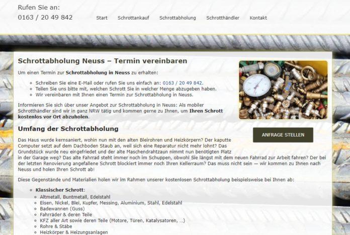 image 1 110 696x468 - Schrottabholung Neuss : Ihrem Schrotthandel in Ihrer Nähe.