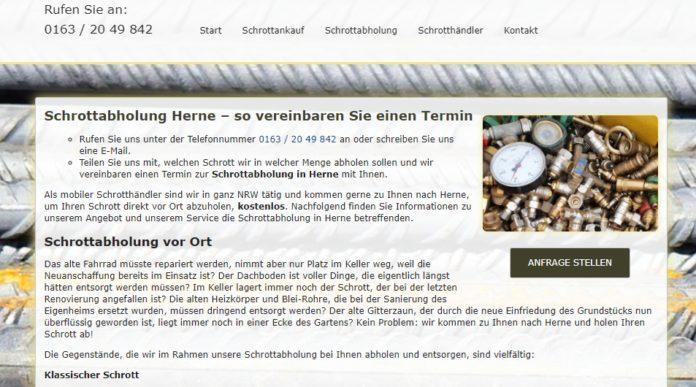 image 1 131 696x387 - Schrottabholung Herne : ist Ihr Experte und Partner für Schrottankauf, Schrottabholung,