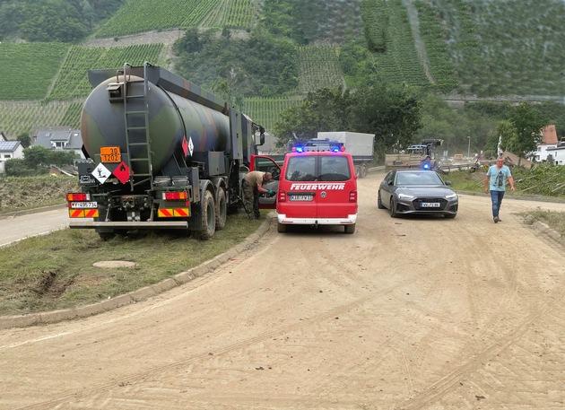 image 1 149 - Logistikkommando der Bundeswehr unterstützt bei der Hochwasserkatastrophe in Deutschland