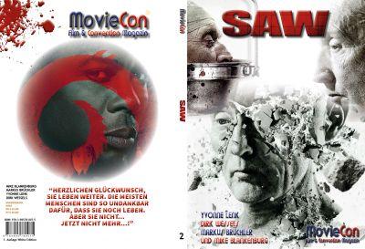 moviecon sonderband 2 saw hardcover white - Von Fans für Fans geschrieben: Der neue MovieCon Sonderband zur Filmreihe SAW
